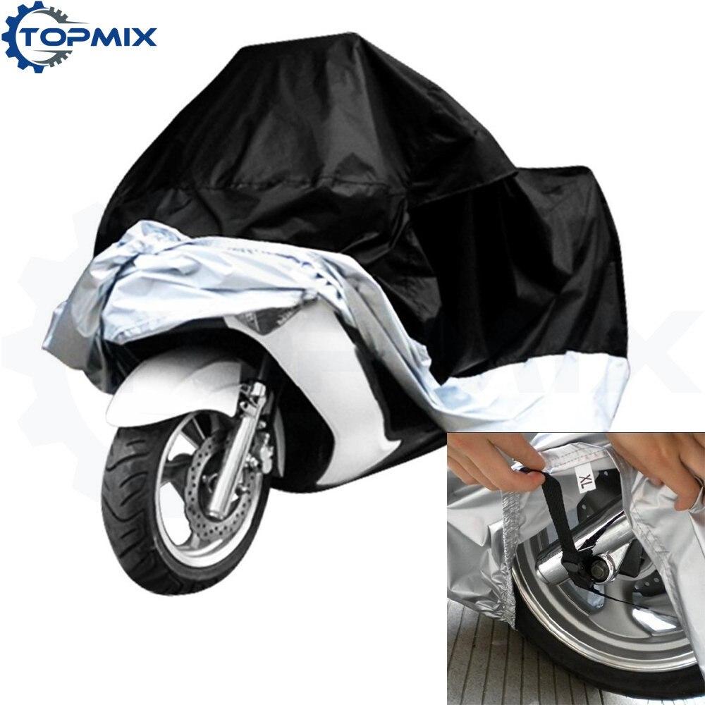 Motorcycle cover blacksilver 1