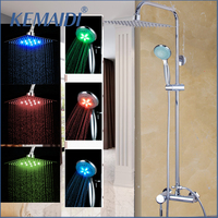 KEMAIDI LED Bath Shower Set With the Shower Head Hand Sprayer Shower Set With the Ultra Thin Head Bathroom shower faucets Set