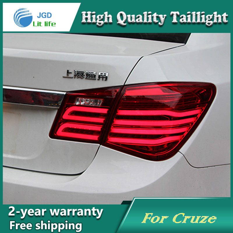 Car Styling Tail Lamp for Chevrolet Cruze Tail Lights 2009UP Cruze LED Tail Light DRL Turn Signal+Brake+Reverse auto Accessories 2pcs 12v 24v 1156 p21w ba15s 22 5630 smd led back up lights lamp reversing tail rear led car light for chevrolet cruze
