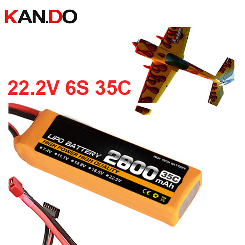6s 35c 22 2v 2600mah airplane model battery 35C aeromodeling battery model aircraft lithium polymer battery
