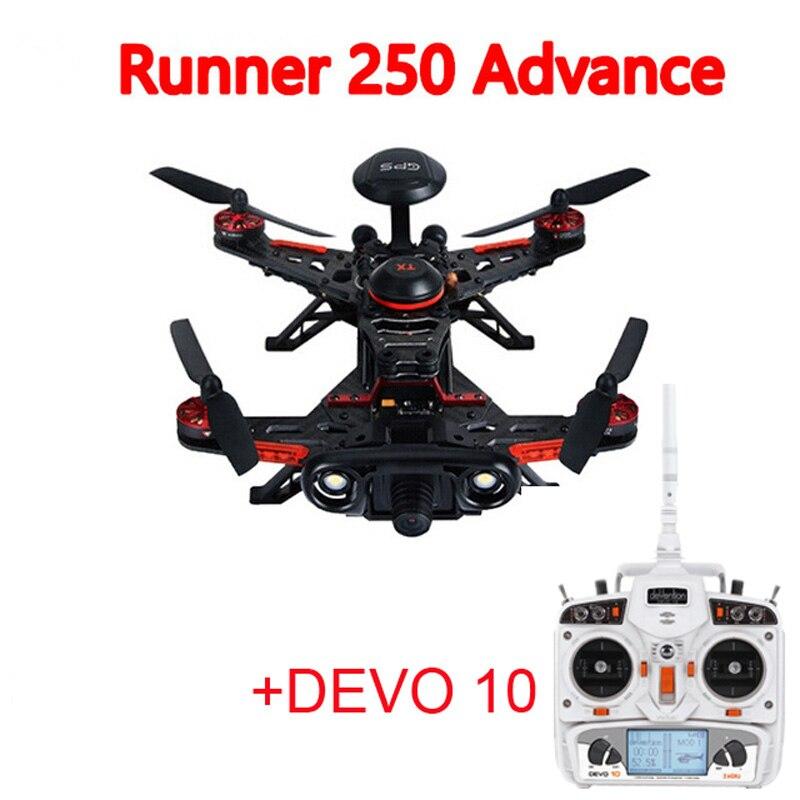 Walkera Runner 250 Advance GPS RC Drone Quadcopter with DEVO 10 Remote Controller RTF (800TVL / 1080P camera optional) цены