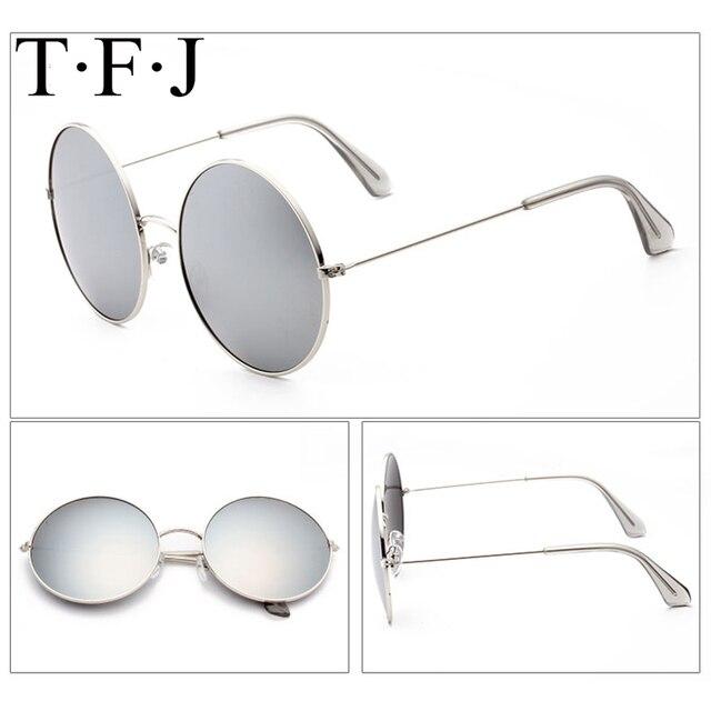 5040b2832c6d6a TFJ Haute Qualité Ronde En Métal lunettes de Soleil Steampunk Hommes Femmes  Mode Lunettes Marque Designer
