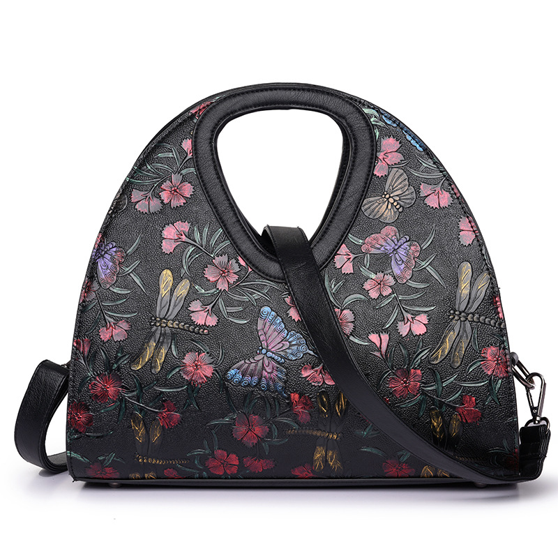Luxury handbags women bags designer brand ladies hand bag Sac a main femme de marque Embroidered butterfly bag Retro Leather bag luxury handbags women bags designer brands women shoulder bag fashion vintage leather handbag sac a main femme de marque a0296