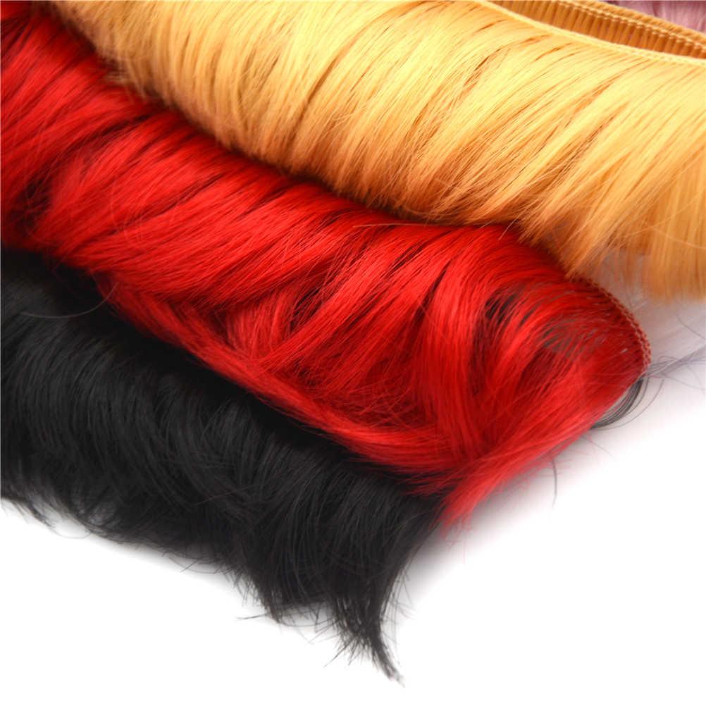 5x100cm najnowszy lalka krótkie kręcone DIY fringe włosów naturalna brązowa czarny w kolorze khaki peruka dla 1/3 1/4 BJD SD peruka dla lalki