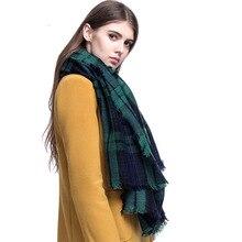 Za winter sjaal 2016 Tartan Sjaal vrouwen Plaid Sjaal cuadros Nieuwe Designer Unisex Acryl Basic Sjaals