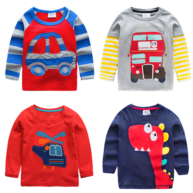 The boy long sleeved T-shirt 2016 Spring Spring New Kids Baby Shirt coat T-shirt U243