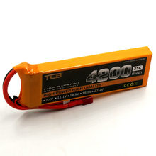 TCB RC LiPo Battery 7.4V 4200mAh 25C 2S for RC Model Aircraft Airplane Drone Car Boat High-Power Cell Battery LiPo 2S(China)