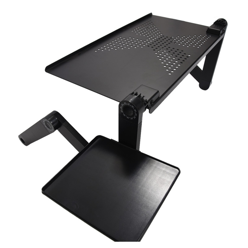 Flexible Computer Desk Mobile Laptop Standing Desk For Bed Sofa Laptop Folding Table Notebook Desk With Mouse Pad For Office