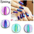 New Arrival 4pots Chrome Mirror Nail Powder Nail Glitter Dust DIY Nail Art Sequins Chrome Pigment Decorations Tool