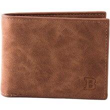 Ретро Тонкий мужской кошелек, Двойные Короткие Бумажники для мужчин с карманом для монет на молнии, матовая кожа, зажим для денег, бизнес кошельки для кредитных карт