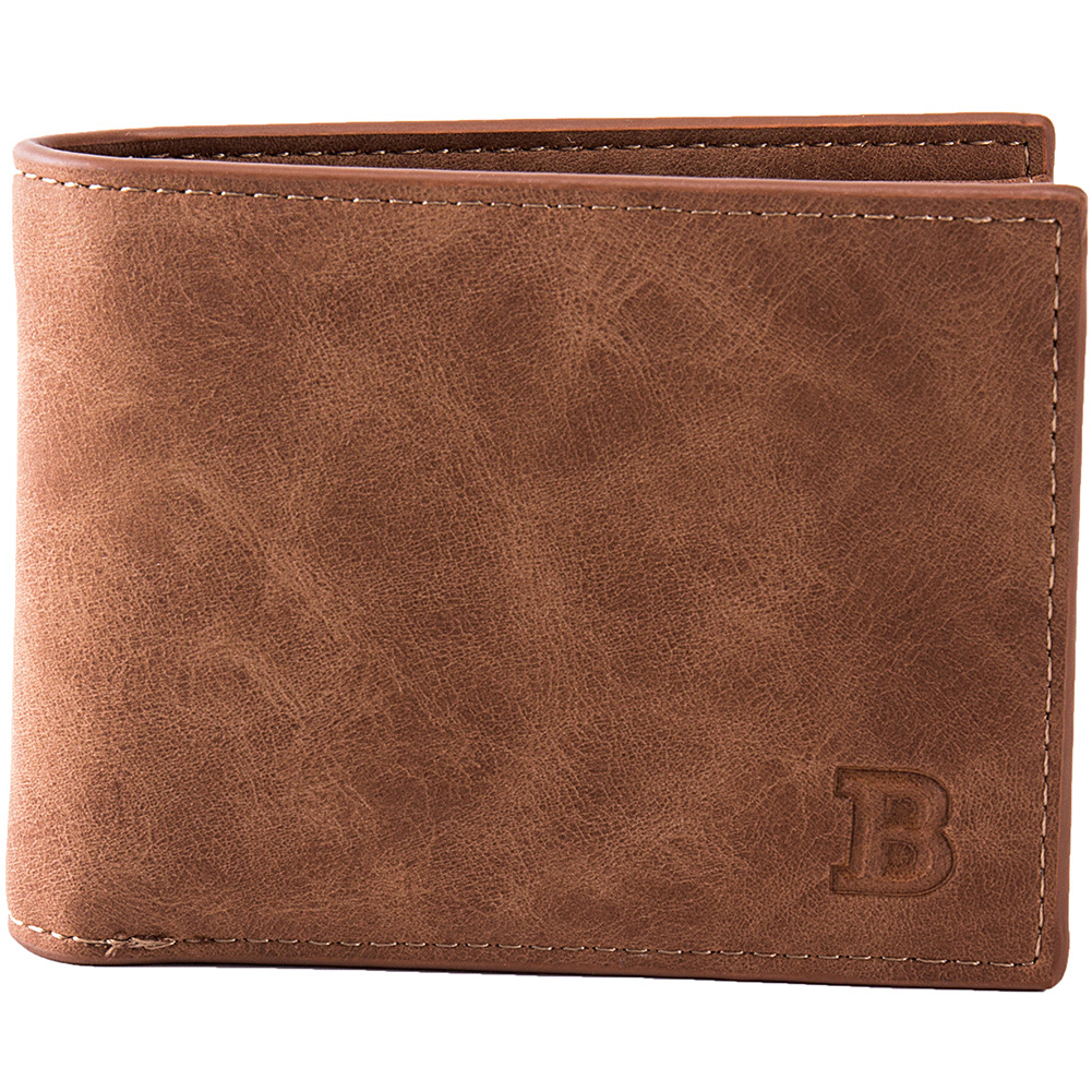 Retro Slim Wallet Men Bifold Short Wallets For Man With Zipper Coin Pocket Matte Leather Money Clip Business Credit Card Purses