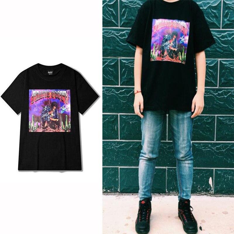 Célèbre Rock Punk Short Sleeve T shirt Men VINTAGE TRAVIS SCOTT Fashion  KG16