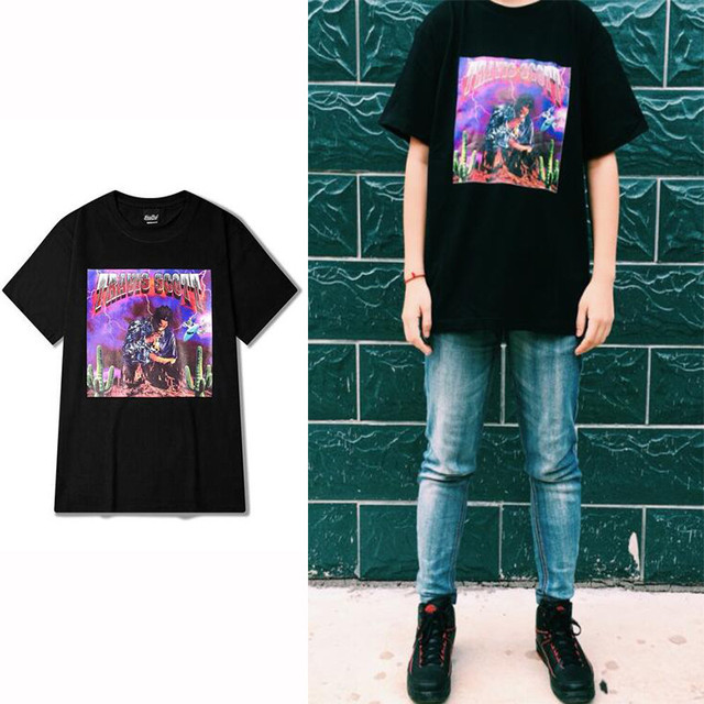 Assez Rock Punk Short Sleeve T shirt Men VINTAGE TRAVIS SCOTT Fashion  EY99