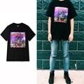 TRAVIS SCOTT Rock Punk de Manga Corta camiseta de Los Hombres de LA VENDIMIA Estilo de la manera Negro Especial Impreso Tee shirt Homme Casual Tees S-XXXL