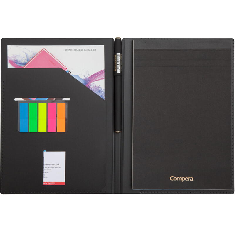 A5 File Folder Padfolio Writing Pad Portfolio Business Presentation Folder Office School Supplies Stationery creative stationery a5 flip board folder splint vertical writing clipboard page splint writing pad folder pu random