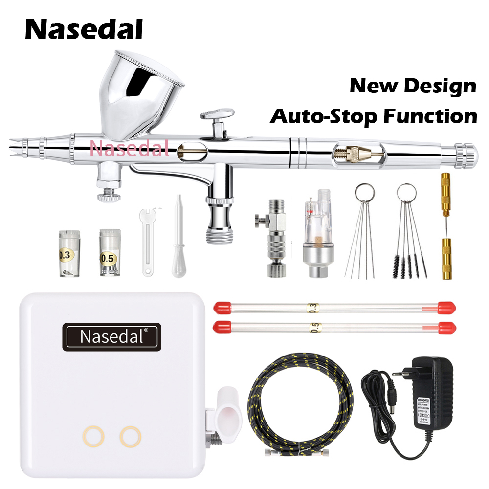 Nasedal NT 24W Mini Multifunctional Airbrush Spray Gun Air Brush Makeup Painting Decoration Pneumatic Tools Air