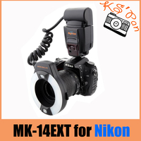 Meike MK 14EXT MK14EXT Macro TTL ring flash for NIKON i TTL with LED AF assist lamp D7100 D7000 D5200 D800 D600 D3200
