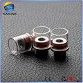 Cigarro eletrônico 510 dicas de gotejamento de vidro de vela de vidro substituível núcleo de aço inoxidável para 510 atomizador 10 pcs atacado