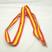 Желтая и красная медаль ленты завязанные с высоким качеством унисекс гимнастика спортивная игрушка школа День спорта Национальный флаг