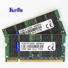 2Pcs  2x1GB PC3200 DDR400 400Mhz 200pin DDR1 Sodimm Laptop Memory RAM Free Shipping