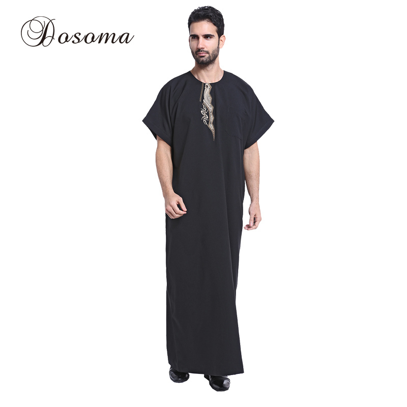 Traditional & Cultural Wear Novelty & Special Use Practical Muslim Jubba Thobe Islamic Mens Clothing Short Sleeve Shirt Abaya Plus Size Jilbab Moslem Robe Middle East Kaftan Dubai Arab An Enriches And Nutrient For The Liver And Kidney