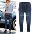 European Street Denim Elastic Waist Jeans Women Harlan Pants Boyfriend Jeans Female Trousers For Women Plus Size XXXXXL 2016