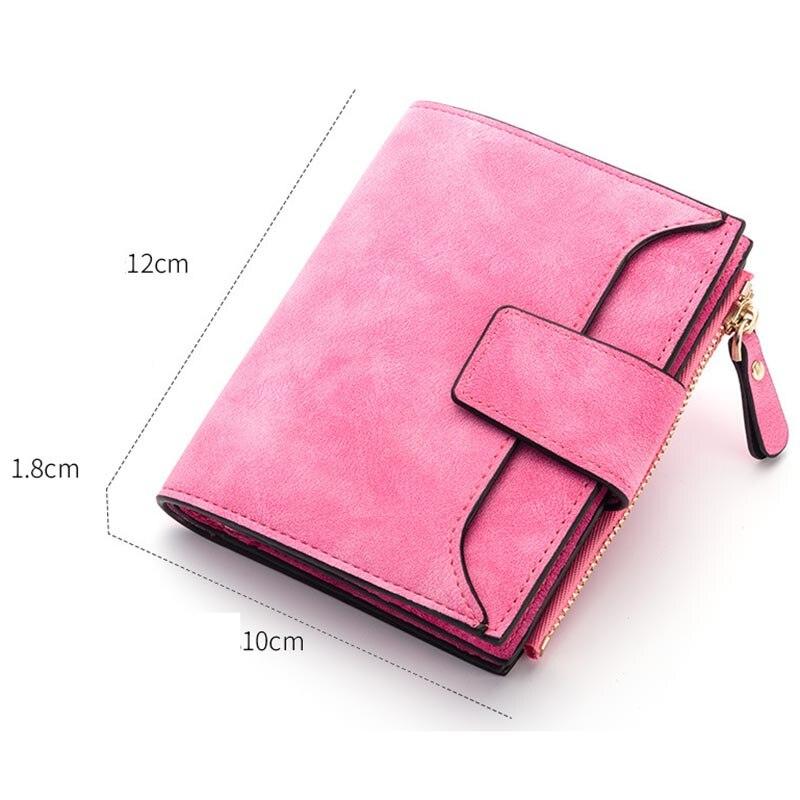Baellerry Luxury Short Womens Cute Zipper Coin Pocket Trifold Wallet Leather Women Card Holder Clutch Hasp Ladies Purse W105 3