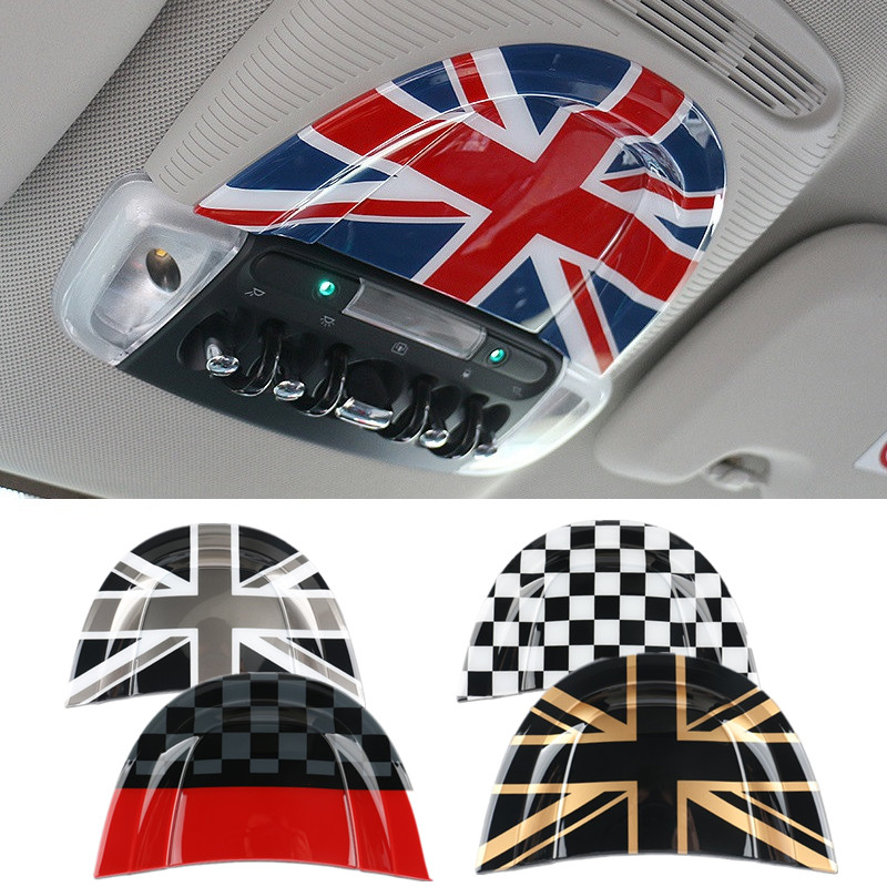 ABS Car Reading Light Mounding Cover for Mini Cooper Countryman Clubman F54 F55 F56 F60 Interior Styling Decoration Trim Decal union jack interior rearview mirror cover cap shell abs plastic decor for bwm mini cooper jcw s one f54 f55 f56 f60 countryman