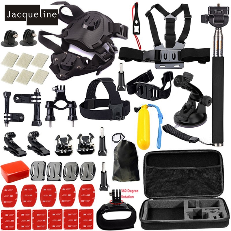 все цены на Jacqueline for Dog Accessories Set Kit Mount for Gopro hero HD 6 5 4/3/2 for SJCAM SJ4000 SJ5000 SJ6000 for EKEN