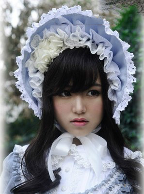 Princess sweet lolita gothic lolita bonnet beautiful dress lace bonnet brim stand moldable plastic tin wire