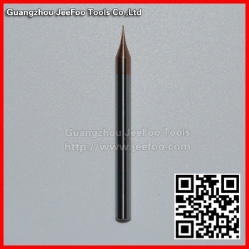 MA-0.3 Tungsten Carbide four flutes micro small spiral blade tools with coating/flat end mill bit with TiAIN coating