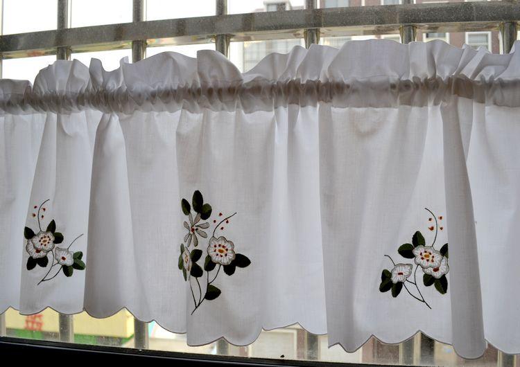 US $12.9 |Qualität stickerei bestickt gardinen für küche zeuge kurzen kopf  vorhang kaffee vorhang küche vorhänge-in Vorhänge aus Heim und Garten bei  ...