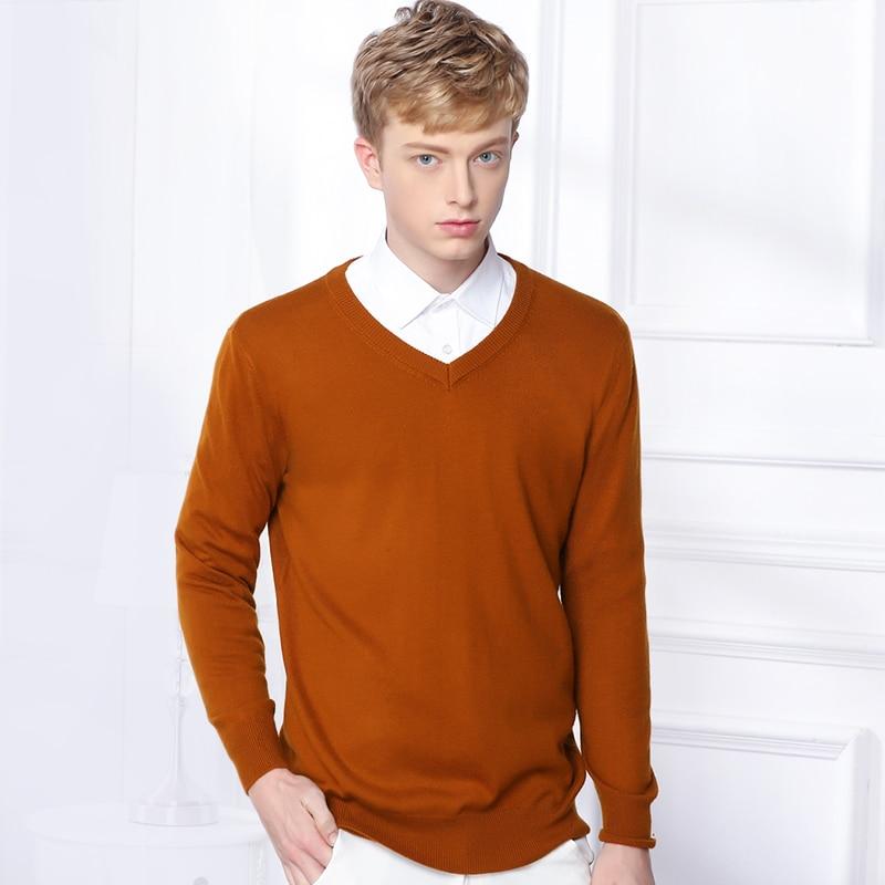adbdd67fd3d ... Estilo Vintage, Otoño e Invierno. Cheap ¡Caliente! Suéter tejido de  lana de cachemir para hombre, suéter con cuello