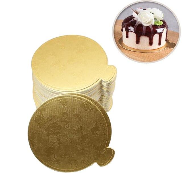 20 pz/set Rotonda Mousse Tavole Torta Oro di Carta Cupcake Dessert Display Vasso