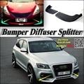 Car Splitter Diffuser Bumper Canard Lip For Audi Q5 SQ5 Tuning Body Kit / Front Deflector Car Fin Chin Reduce Body Tune View