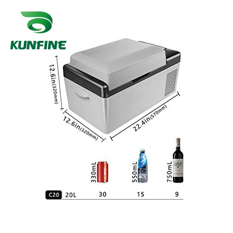 KUNFINE DC 12V24V 110-240V AC Car Refrigerator Multi-Function Fridge Compressor Vehicel Protable Refrigerator Freezer Cooler C20 (7)
