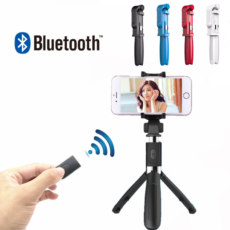 Selfie Bluetooth Selfie Stick Tripod Universal Selfie Stick Mobile Phone Monopod For Android Ios for iPhone 6 7 8 universal android ios phone folding extendable selfie stick auto selfie stick tripod clip holder bluetooth remote controller set