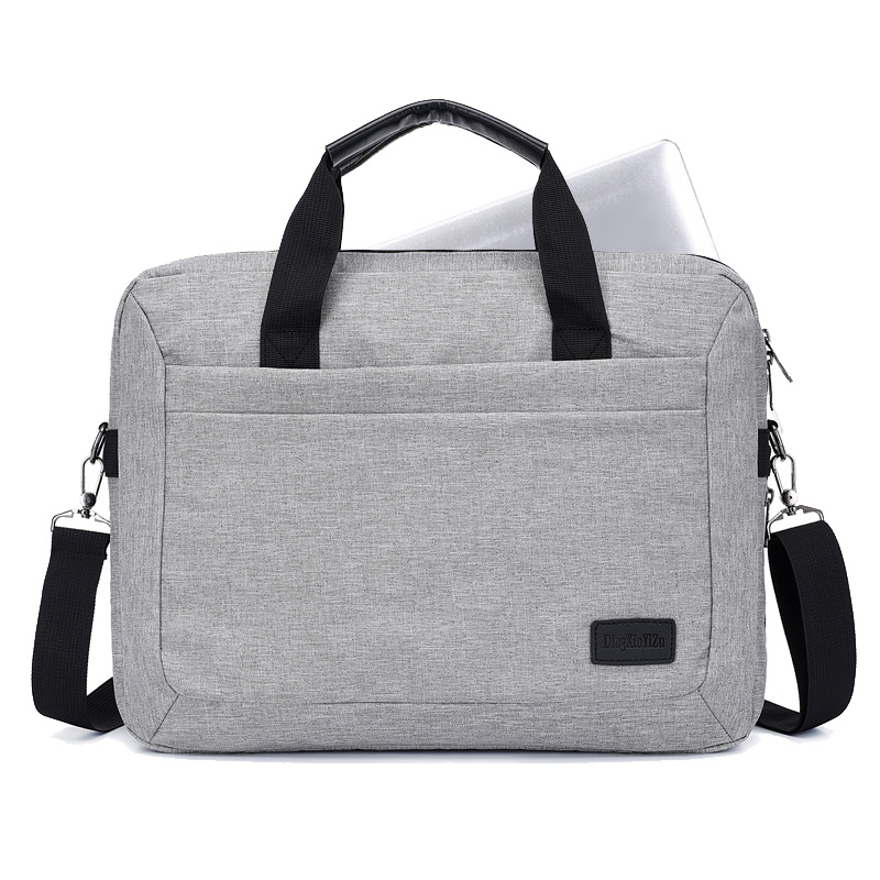 Messenger-Bags Laptop-Work-Bag Business-Briefcase Computer Office Travel Waterproof Gray