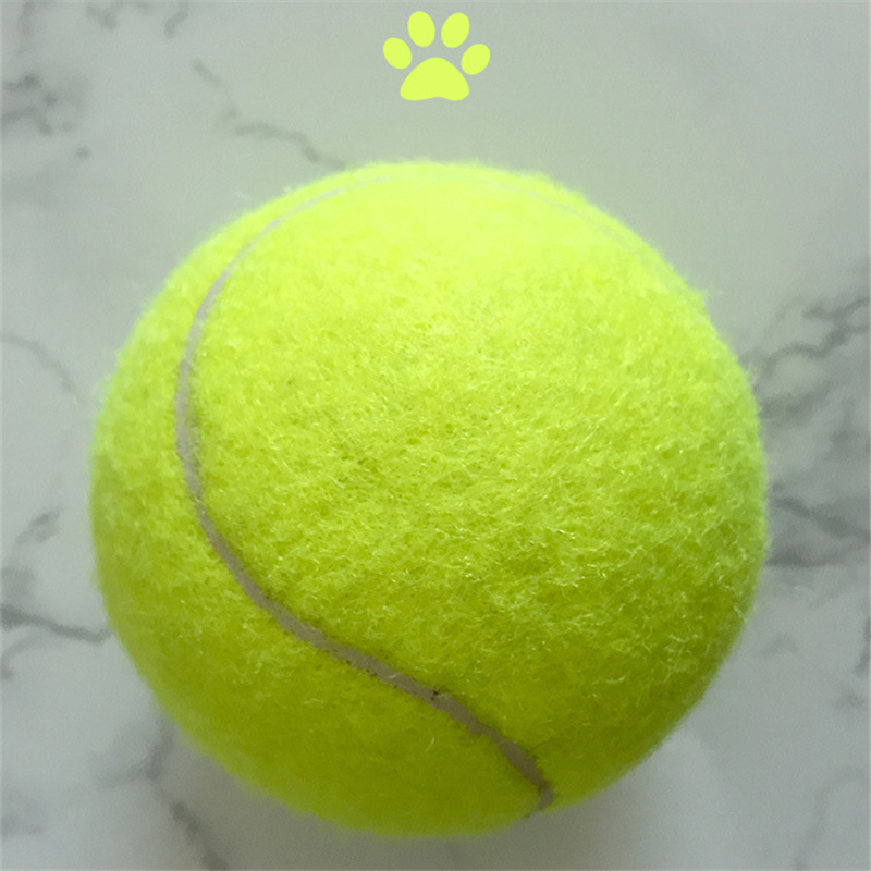 DoreenBeads Dogs Ball Toys Tennis Ball Chew Toys Puppy Dog Training Playing Ball Toy Outdoors Resistant to Bite Pets Favor 6.5cm