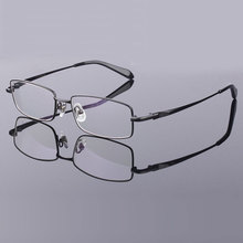 Montura completa de gafas de titanio puro para hombre, montura de gafas ópticas, gafas de prescripción, montura de aleación 9867
