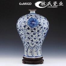 New Chinese-style antique flower arrangement of Jingdezhen ceramics