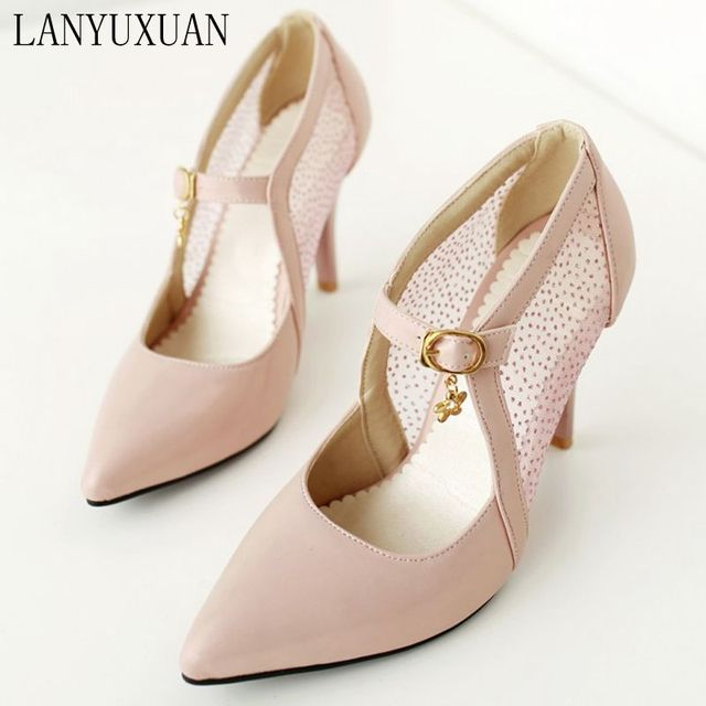 5fd8399cd1 US $9.84 18% OFF|LANYUXUAN Super BIG 28 52 Size ladies shoes women shoes  high heel 2018 women pumps summer style summer chaussure femme 205-in High  ...