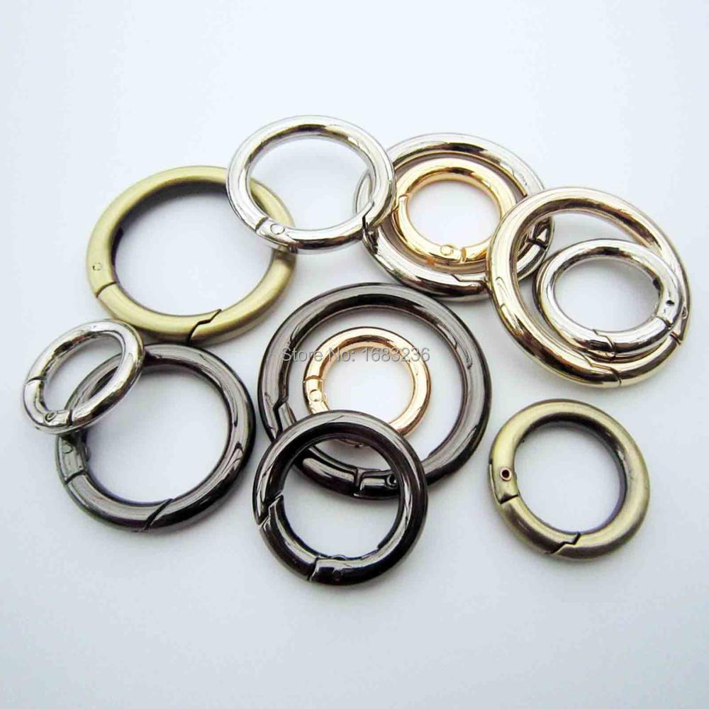 Metal O-Ring Non Welded O Rings for Belts Bags Landyard DIY Leather Hand Craft