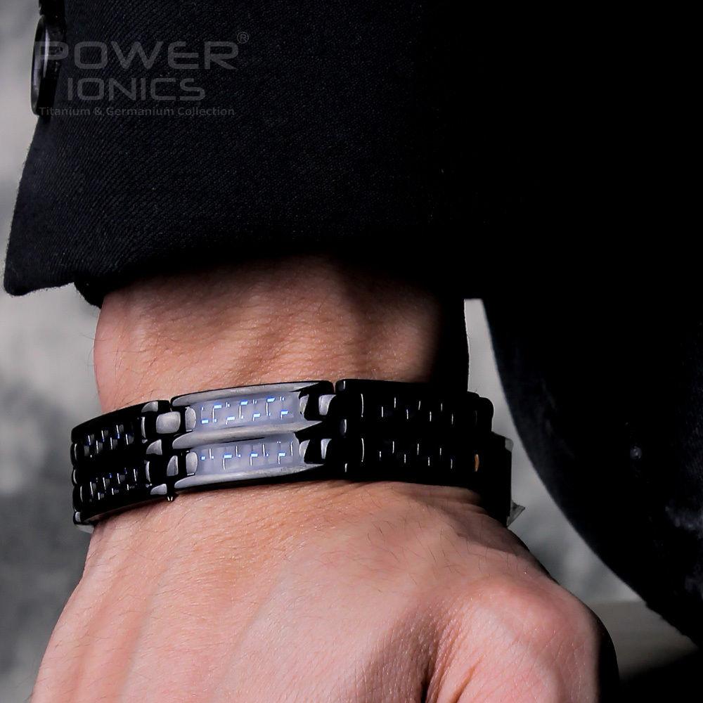 Hot Deals⌠100%Pure Wristband Bracelet Carbon-Fiber Magnetic-Therapy Power-Ionics Titanium Mens