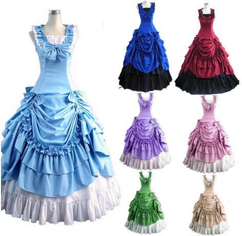 Femmes adulte sud victorien robe robe de bal gothique Lolita robe grande taille personnalisée