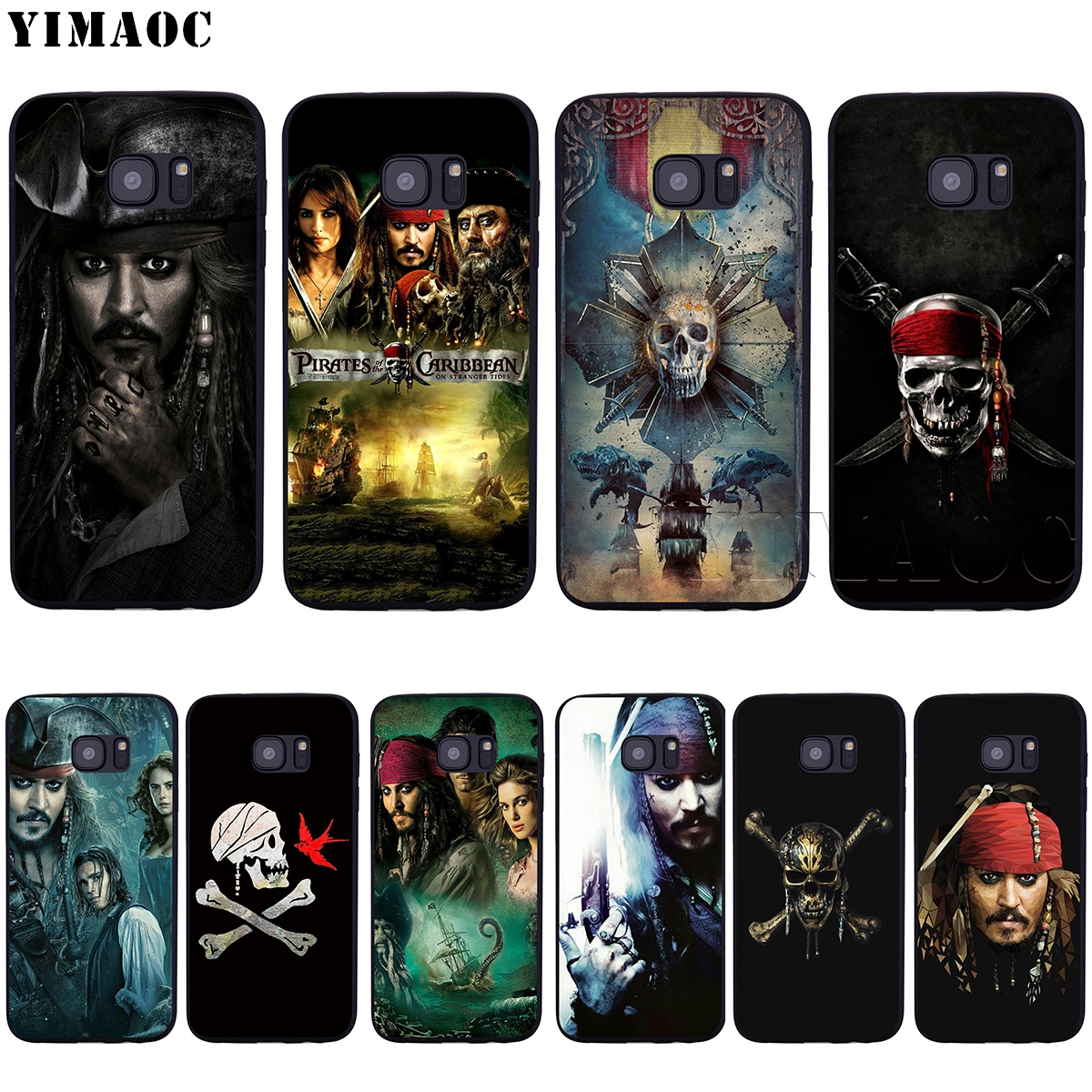YIMAOC Pirates Of The Caribbean Soft Silicone Case for Samsung Galaxy S6 S7 Edge S8 S9 Plus A3 A5 2016 2017