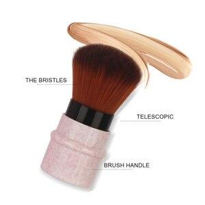 Image 5 - Mini geri çekilebilir vakıf makyaj pudra allık güzellik fırçalar seyahat kozmetik