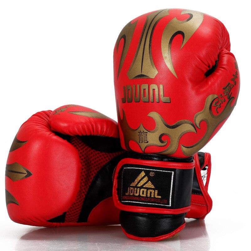 Men Women Dragon Champion Taekwondo Boxing Sanda Training Match MMA Gloves E
