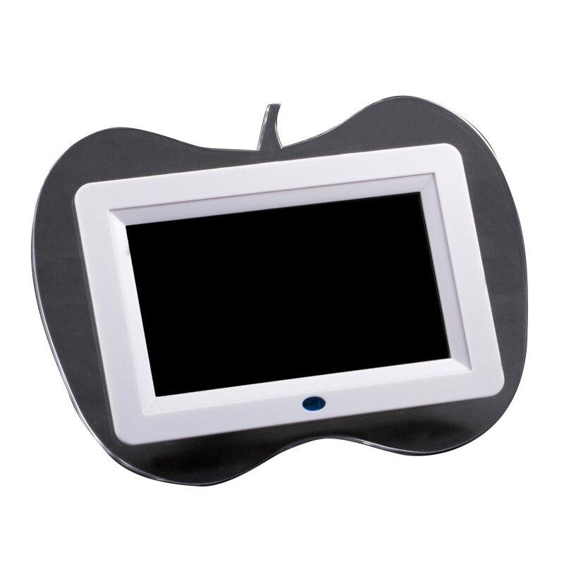 FOR Apple shape 7 Inch Led quadro Digital Photo frame cornice USB ...
