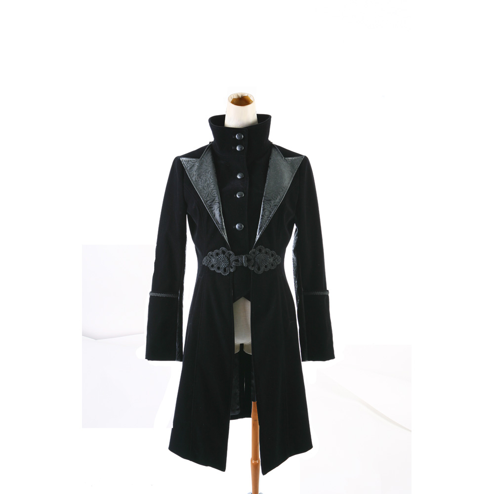 Blazers Stream: Punk Rock Black Red Military Jacket Coat Blazer Visual Kei